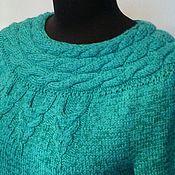 """Одежда ручной работы. Ярмарка Мастеров - ручная работа Платье-свитер """"Esmeralda"""". Handmade."""
