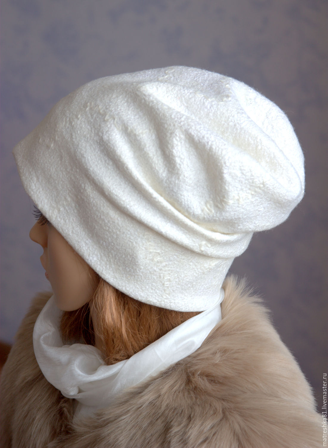 The hat felted. Knitted effect, Caps, Khabarovsk,  Фото №1
