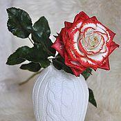 Цветы и флористика ручной работы. Ярмарка Мастеров - ручная работа Цветок из полимерной глины Королевская роза. Handmade.