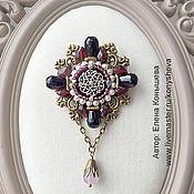 Украшения handmade. Livemaster - original item Brooch order with pearl and garnet. Brooch pendant.. Handmade.