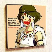 Картины и панно handmade. Livemaster - original item Painting Princess Mononoke Pop Art. Handmade.