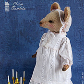 Куклы и игрушки ручной работы. Ярмарка Мастеров - ручная работа Мышка Тетушка Офелия. Handmade.