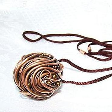Украшения ручной работы. Ярмарка Мастеров - ручная работа Кулон подвеска из меди Млечный Путь (Wire Wrap). Handmade.