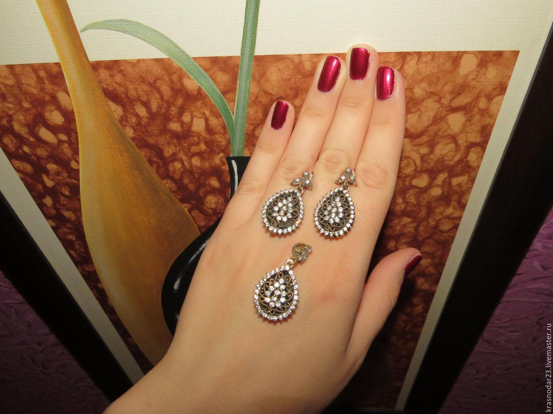 Set 'Oriental tale' from 925 sterling silver, Jewelry Sets, Krasnodar,  Фото №1