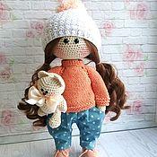 Куклы Тильда ручной работы. Ярмарка Мастеров - ручная работа Вязаная интерьерная кукла. Handmade.