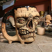 Посуда ручной работы. Ярмарка Мастеров - ручная работа Пивная кружка зомби. Handmade.