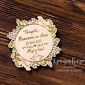Свадебный салон ручной работы. Ярмарка Мастеров - ручная работа Магниты на свадьбу. Handmade.