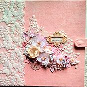 Фотоальбомы ручной работы. Ярмарка Мастеров - ручная работа Детский альбом для девочки, альбом малыша. Handmade.
