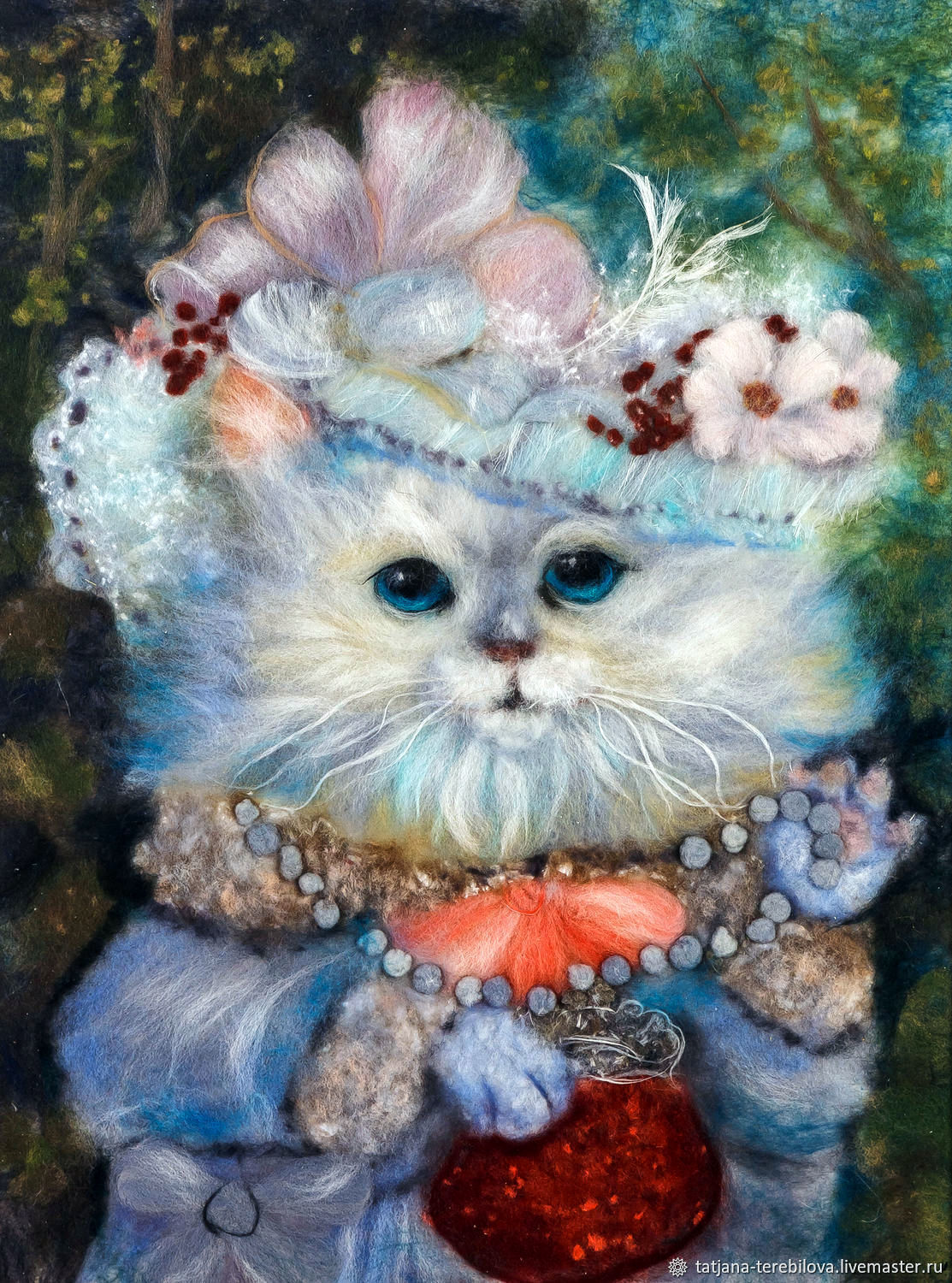 Painting of wool Cat-lady, Pictures, Narva,  Фото №1