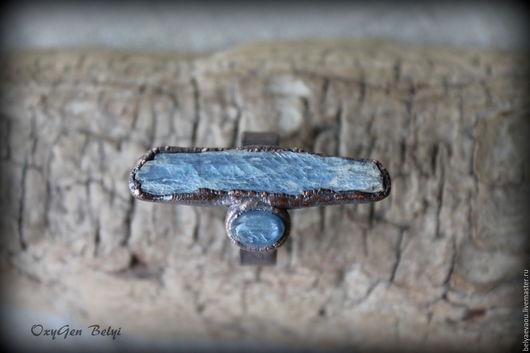 """Кольца ручной работы. Ярмарка Мастеров - ручная работа. Купить Кольцо """"Дочки-Матери"""". Handmade. Синий, эко"""
