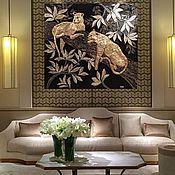 Картины и панно ручной работы. Ярмарка Мастеров - ручная работа Золотые Леопарды. Handmade.