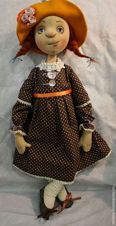 """Человечки ручной работы. Ярмарка Мастеров - ручная работа. Купить Авторская кукла """"Солнечное настроение"""". Handmade. Большая кукла, желтый"""