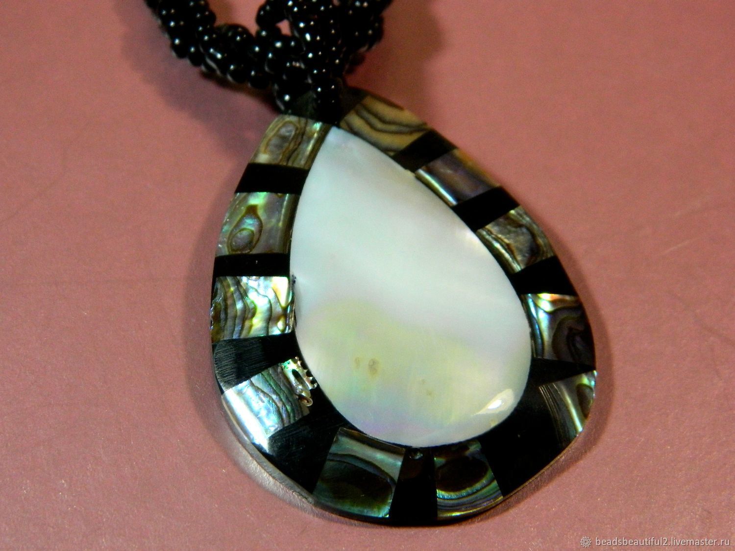 Pendant made of mother of pearl 55h40 mm pcs, Pendants, Saratov,  Фото №1