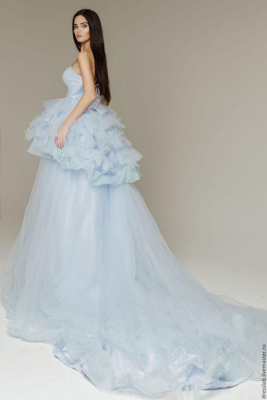 Платья ручной работы. Ярмарка Мастеров - ручная работа. Купить Платье пышное Principessa. Handmade. Голубой, платье для фотосессии