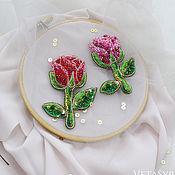 Украшения handmade. Livemaster - original item Brooch flower rose beaded. Handmade.