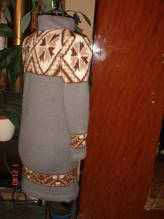 Пиджаки, жакеты ручной работы. Ярмарка Мастеров - ручная работа. Купить Вязаное пальто жаккард. Handmade. Ручное вязание