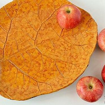 Посуда ручной работы. Ярмарка Мастеров - ручная работа Большое керамическое блюдо для фруктов ручной работы. Handmade.