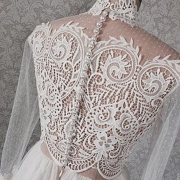 Свадебный салон ручной работы. Ярмарка Мастеров - ручная работа Свадебное платье Бохо для Алёны. Handmade.