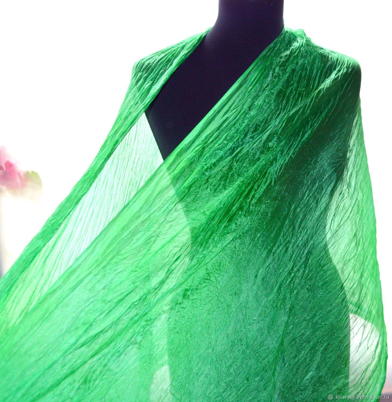 5db320859cd9a Buy Silk scarf tippet women's emerald · Shawls & Warm Stoles handmade. Silk  scarf tippet women's emerald green.