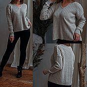 Одежда handmade. Livemaster - original item Pullovers: 100%linen