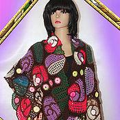 Аксессуары handmade. Livemaster - original item Knitted stole, crochet Mosaic.. Handmade.