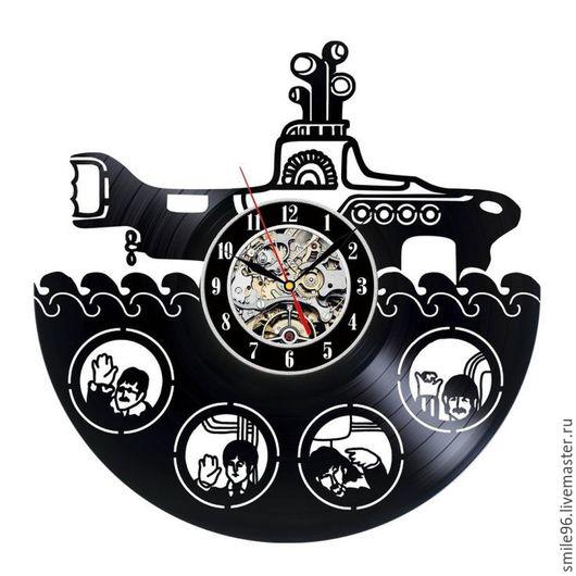 """Часы для дома ручной работы. Ярмарка Мастеров - ручная работа. Купить Часы """"The Beatles"""". Handmade. Черный, винил"""