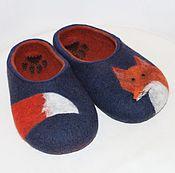 """Обувь ручной работы. Ярмарка Мастеров - ручная работа Тапочки валяные женские """"Лисичка-сестричка"""" 39р. Handmade."""