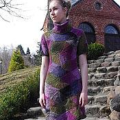 """Одежда ручной работы. Ярмарка Мастеров - ручная работа Платье """"Мельница"""". Вязаный пэчворк. Handmade."""