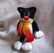 Куклы и игрушки ручной работы. Ярмарка Мастеров - ручная работа Котик вязаный. Handmade.