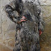 """Одежда ручной работы. Ярмарка Мастеров - ручная работа Авторское валяное пальто-кардиган """"Ночные скалы"""". Handmade."""