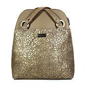 """Сумки и аксессуары ручной работы. Ярмарка Мастеров - ручная работа Сумка-рюкзак """"Винтажная осень"""", рюкзак кожаный, сумка кожаная. Handmade."""