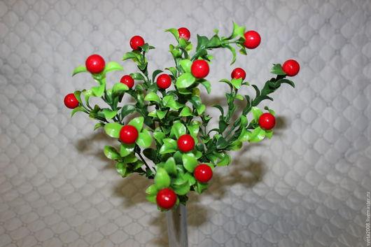 Материалы для флористики ручной работы. Ярмарка Мастеров - ручная работа. Купить Куст брусники с мелкой ягодой (2 расцветки). Handmade.
