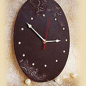 Для дома и интерьера ручной работы. Ярмарка Мастеров - ручная работа Часы Шоколад. Handmade.