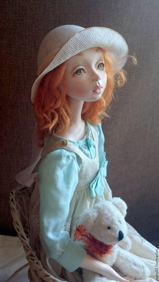 Коллекционные куклы ручной работы. Ярмарка Мастеров - ручная работа. Купить Коллекционная кукла Фиби. Handmade. Оранжевый, Паперклей