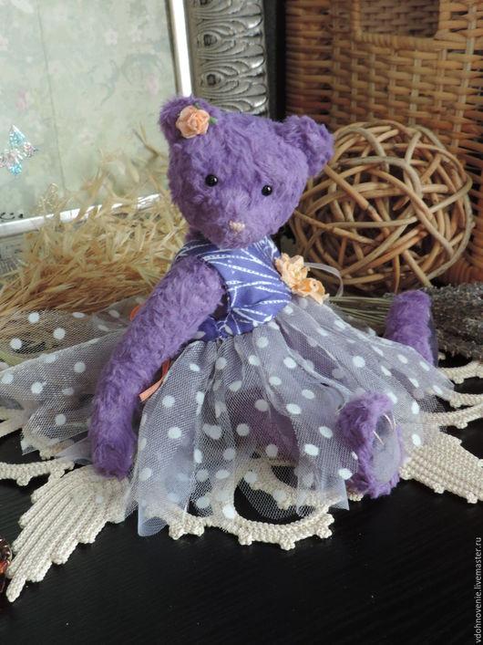 Мишки Тедди ручной работы. Ярмарка Мастеров - ручная работа. Купить Малышка Полли, маленькая Мишка-тедди. Handmade. Сиреневый
