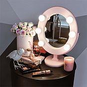 Для дома и интерьера ручной работы. Ярмарка Мастеров - ручная работа Нежно-розовое гримерное зеркало. Handmade.