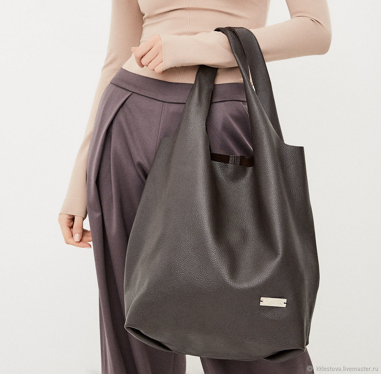 Bag - Bag Pack - medium size with pocket and applique, Sacks, Moscow,  Фото №1