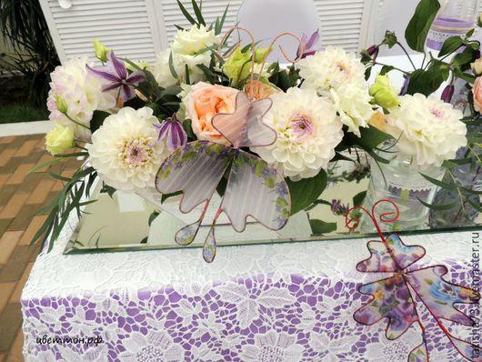 """Свадебные цветы ручной работы. Ярмарка Мастеров - ручная работа. Купить Свадьба """"Бабочки в провансе"""". Handmade. Сиреневый, оригинальное оформление"""