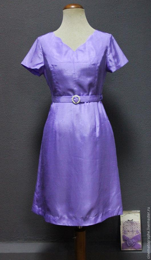 Одежда. Ярмарка Мастеров - ручная работа. Купить Платье 80-е винтаж Америка. Handmade. Сиреневый, винтаж, красивое платье