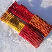 Аксессуары handmade. Livemaster - original item mitts flame. Handmade.
