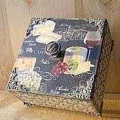 Для дома и интерьера ручной работы. Ярмарка Мастеров - ручная работа Шкатулка для хранения Сыр на черном. Handmade.