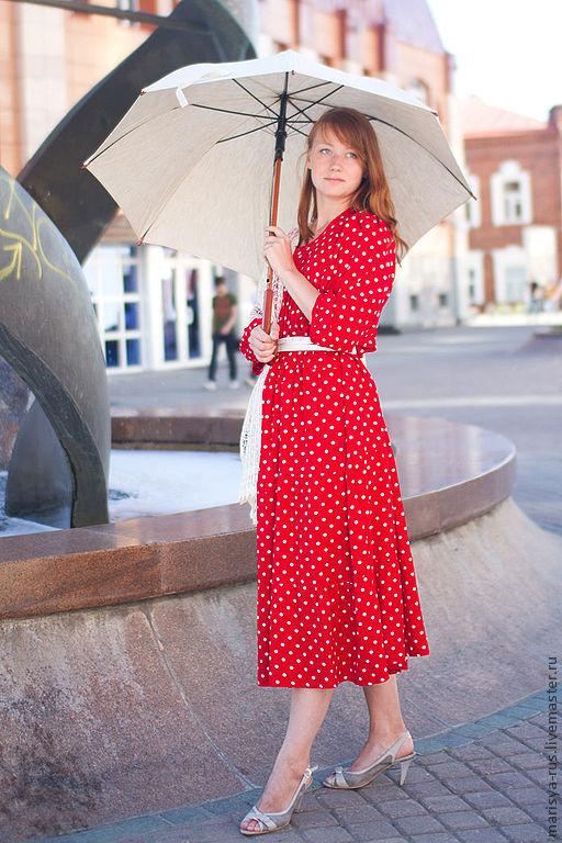 Платья ручной работы. Ярмарка Мастеров - ручная работа. Купить Платье из штапеля. Handmade. Платье, платье в русском стиле