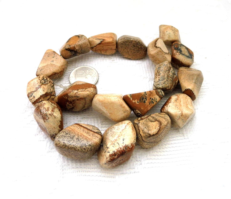 Яшма песчаная 18 камней набор бусины галтовка, Бусины, Москва, Фото №1