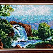 """Картины и панно ручной работы. Ярмарка Мастеров - ручная работа Картина из бисера """"Водопад"""". Handmade."""