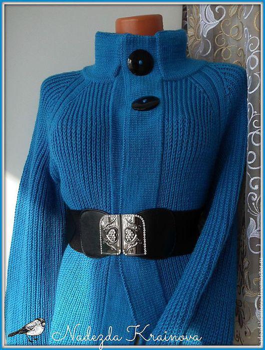 """Пиджаки, жакеты ручной работы. Ярмарка Мастеров - ручная работа. Купить Кардиган """"Весна"""". Handmade. Синий, синий цвет"""