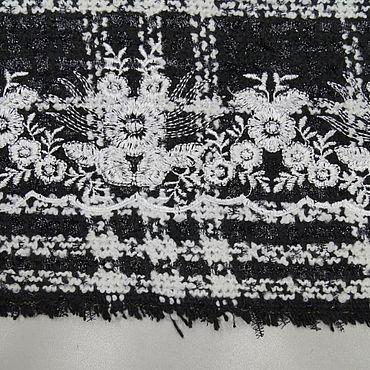 Материалы для творчества ручной работы. Ярмарка Мастеров - ручная работа Ткани: Chanel нарядная с люрексом черный фон. Handmade.