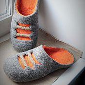 """Обувь ручной работы. Ярмарка Мастеров - ручная работа Тапочки """"Радиаторы"""". Handmade."""