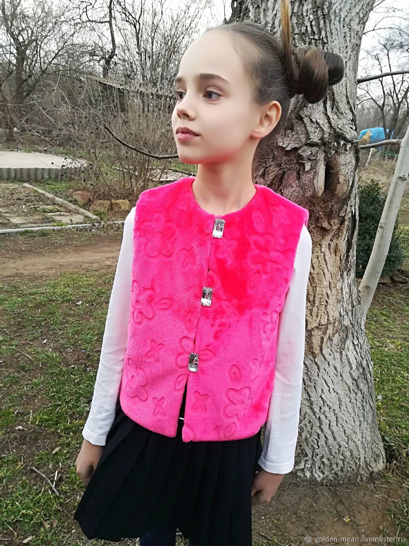 The faux fur vest, Vests, Aleksandrovskoe,  Фото №1