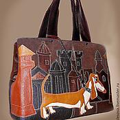 """Классическая сумка ручной работы. Ярмарка Мастеров - ручная работа Кожаная сумка """"Рыжик -3"""". Handmade."""