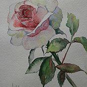 Роза по мотивам La Fe. Акварель.